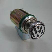 Acendedor De Cigarro Com Botão Em Metal Cromado Emblema Vw