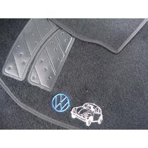 Tapete Carpete Cinza Fusca Bordado Personalizado Automotiv