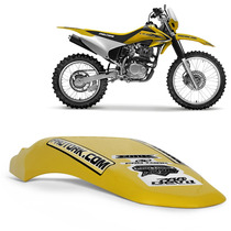 Paralama Traseiro Moto Universal Pro Tork Mx2 Trilha Amarelo
