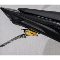 Suporte De Placa Eliminador Ironwing Honda Hornet Blackgold