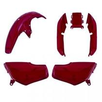 Kit Plástico Carenagem P Titan Cg 125 Ano 1995 1996 Vermelho