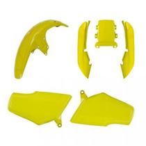 Kit Carenagem P/ Titan Cg 125 Ano 1999 - Amarelo Moto Táxi