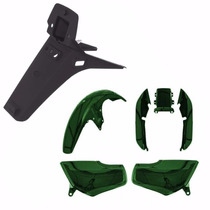 Kit Conjunto Carenagem P/ Cg 125 Titan Ano 1998 1999 Verde