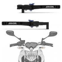 Manete Esportivo Xj6 2010 A 2014 Yamaha Articulado Preto