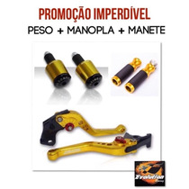 Kit Manete Manopla Peso Hornet 2008 2014 Evolution Eurogomes