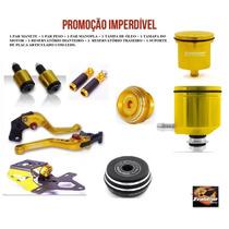 Kit Manete Manopla Peso Suporte Placa Tampa Oleo E Motor
