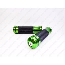 Manopla Esportiva S.p Em Aluminio Verde Cg/ybr/fazer/twister