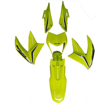 Kit Carenagem Nxr150 Bros 2013 Verde + Adesivo Roupa
