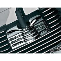 Acessório P/ Harley - Capa Aletada Cromo Para As Velas