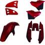 Carenagem Kit Completo Ybr 125 Vermelho 2005 A 2008