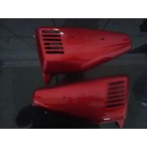 Par De Tampa Lateral Vermelha Honda Ml 125 Bolinha 78 A 83