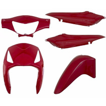 Kit Carenagem Completa Biz125 Vermelho 2009 Modelo Original