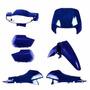 Kit Carenagem Completa Biz100 Azul Per 2004 Modelo Original