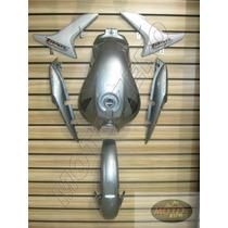 Kit De Cg Titan150 Cinza Carenagem/tanque/lateral/paral S/t