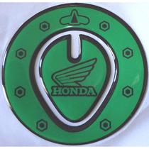 Adesivo Protetor Tampa Do Tanque Combustivel Honda Verde