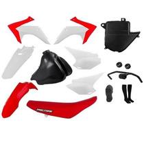 Kit Plastico Crf 230 2015 Xr 200 + Tanque + Banco + Brinde