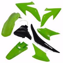 Kit Plasticos Crf230 Conjunto Verde + Tanque + Banco