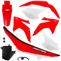 Kit Plástico Crf 230 2015 Red Com Banco