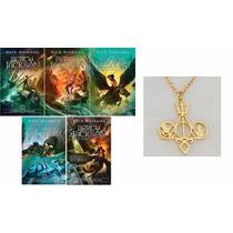 Coleção Percy Jackson E Os Olimpianos 5 Livros + Colar Misto