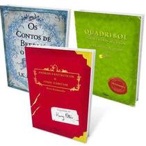 Kit Biblioteca De Hogwarts Harry Potter 3 Livros- Frete 8,00