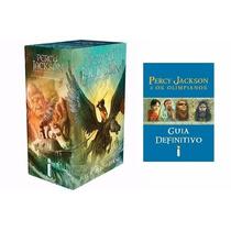 Box Percy Jackson E Os Olimpianos + Guia Definitivo 6 Livros