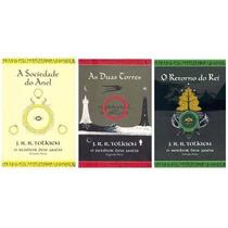 Kit O Senhor Dos Anéis 3 Livros Capas Ilustração Tolkien