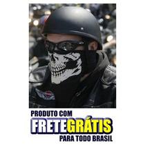 Lenço Caveira De Boca Motocliclista - Frete Grátis