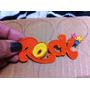 Aplique Bordado P/roupas, Rock (laranja) - R$ 5,00