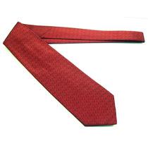 Gravata Italiana Vermelho Grafiado100% Seda B0325