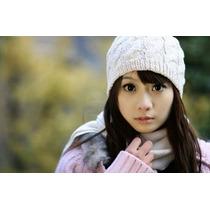 Gorro Feminino Branco Em Crochet Touca