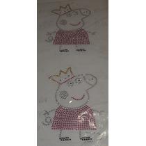Transfer Strass Personalizados Rhinestud Peppa Pig Com 2