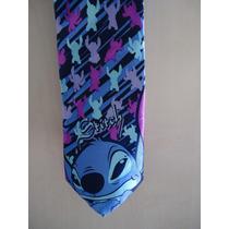 Gravata De Seda Importada 150 Cm Do Stitch Disney 02