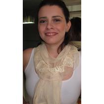 Echarpe Lenço Cachecol Scarf Pashmina Detalhes