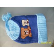 Touca La Proteção Do Frio Com Ursinho Para Criança