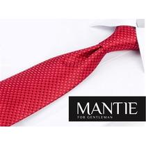 Gravata Seda Mantie Vermelha - Importada