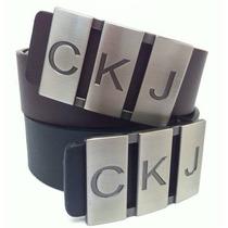 Cinto Calvin Klein Letters Ckj - Lançamento - Frete Gratis