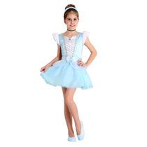 Fantasia Princesa Cinderela Infantil Verão Luxo Completa