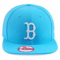 Boné Snapback Boston Red Sox Azul Bebe Original Fit Aba Reta