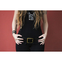 Cinto Feminino Largo 100% Couro Legítimo Artesanal