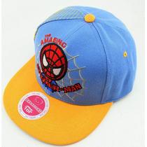 Boné Spiderman Infantil Aba Reta Homem Aranha De 3 A 10 Anos
