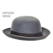 Chapéu Chaplin Coco Bowler - Feltro Cor Cinza