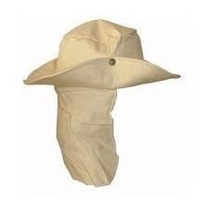 Chapeu Australiano Liso Cores Com Protetor De Nuca