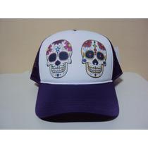 Boné Caveiras Mexicanas Snapback Lancamento Frete Gratis