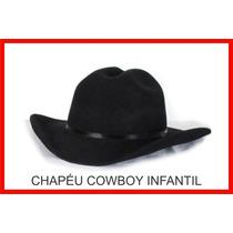 Chapéu Cowboy Country Infantil Feltroecológic Festa Fantasia