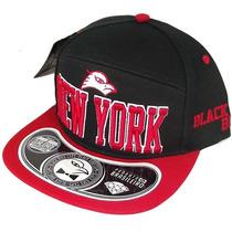Boné Aba Reta Black Bird New York Bordado Snapback