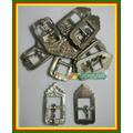 1 Peça Fivela Antiga Em Alpaca (metal Branco)corneta Nº 112