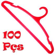 Lote 100 Pçs Cabide Vermelho De Roupas Para Camisa E Jaqueta