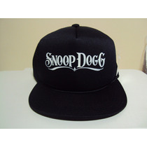 Boné Aba Reta Snoop Dogg Preto Trucker Snapback Frete Gratis