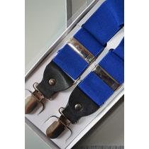 Suspensórios Azul Masc Adulto E Infantil Qualidade A-046