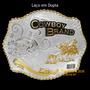 Fivela C/ Banho Dourado E Prata - Cowboy Brand - Laço Compri
